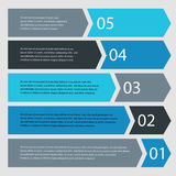 Step progress options banners Royalty Free Stock Photography