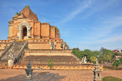 Step pyramid with the Buddha Stock Photo