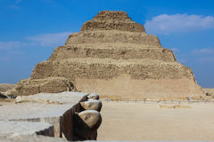Step pyramid of Djoser. Desert. Saqqara. Egypt Stock Photos
