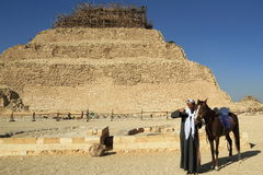 The Step Pyramid of Djoser in Egypt Royalty Free Stock Images