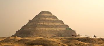 The Step Pyramid of Djoser in Egypt, famous, landmark Royalty Free Stock Image