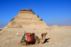 Step pyramid of Djoser in Saqqara, Egypt Royalty Free Stock Image
