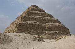 Step Pyramid of King Djoser. The Step pyramid of Pharaoh Djoser in Saqqara near Cairo, Egypt stock photography