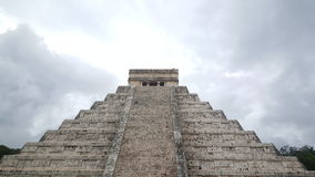 Step-pyramid & Maya temple at Chichen Itza. Archaeological site in Mexico Royalty Free Stock Images