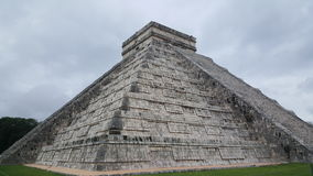 Step-pyramid & Maya temple at Chichen Itza. Archaeological site in Mexico Royalty Free Stock Photography