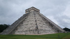 Step-pyramid & Maya temple at Chichen Itza. Archaeological site in Mexico Stock Images