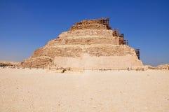 Step pyramid in Saqqara, Ancient Egypt. stock image
