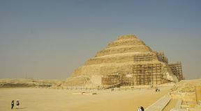 The Step Pyramid in Saqqara, Egypt Stock Photos