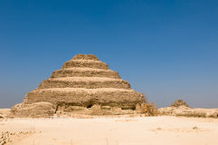 Step pyramid in Saqqara, Egypt Royalty Free Stock Photos