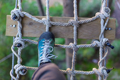 Step on the rope grid Stock Image