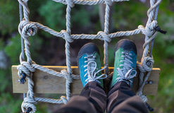 Step on the rope grid Royalty Free Stock Photos