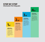 4 Step Stair Infographic Royalty Free Stock Photos