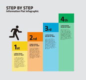 4 Step Stair Infogrpahic Royalty Free Stock Photos