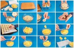 Торт хлопает step-by-step Стоковая Фотография RF