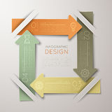 Step-by-step. Colour 3D illustration. With shadows on a colored background Royalty Free Stock Photography