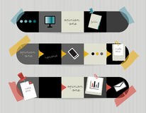 3 step by step diagram for infographics. Web diagram template stock illustration