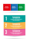 Step by step info graphics template Stock Image