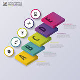Step by step infographic concept. Modern design template. Vector illustration Stock Images