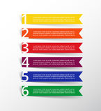 Step by step infographic. Royalty Free Stock Photography