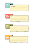 Step by step infographics. Banners. Vector illustration. Eps 10 file Royalty Free Stock Photography
