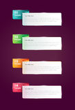 Step By Step Infographics Banners. Vector illustration. Eps 10 file Royalty Free Stock Photos