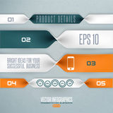 Step by step infographics illustration Royalty Free Stock Photos