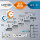 Step by step infographics illustration Royalty Free Stock Photography