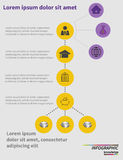 Step by step infographics. Learning process. Vector illustration Royalty Free Stock Photo