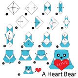 Step By Step Instructions How To Make Origami Bear. Stock ... - photo#17