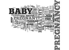 A Step By Step Plan To A Healthy Pregnancyword Cloud Royalty Free Stock Photography