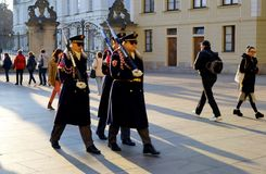 Step by step. Praga, Czech Republic in the sunset royalty free stock photos