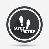 Step by step sign icon. Footprint shoes symbol. Stock Photo