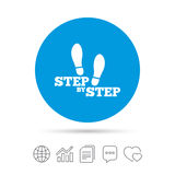 Step by step sign icon. Footprint shoes symbol. Royalty Free Stock Photography