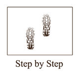 Step by step. Two feet on the whie background as step by step concept Stock Images