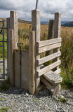 Step Stile style, with gate for dog, North Wales Royalty Free Stock Photos