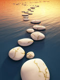 Step stones sunset Royalty Free Stock Photography