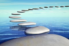 Step stones up air Stock Photography