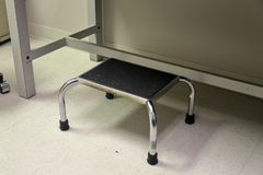 Step stool in medical office stock image