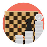 Step strategy finance. Economic tactic invest, vector illustration Stock Photography