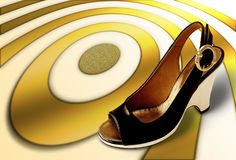 Step on target Royalty Free Stock Images