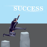 Step to get success. Business illustration Royalty Free Stock Photography