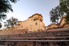 Step to Nahargarh Fort in Jaipur Stock Photo