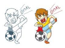 Soccer cartoon Stock Image