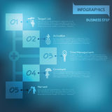 Step to success infographics Royalty Free Stock Photography
