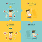 Step to weight loss infographic Royalty Free Stock Images