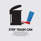 Step Trash Can Royalty Free Stock Photos