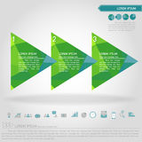 Step of triangle banner and business icon. Vector Royalty Free Stock Image