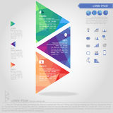 Step of triangle banner and business icon Royalty Free Stock Image