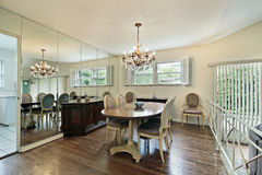 Step up dining room Royalty Free Stock Photo