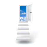 Step up the ladder to the sky over white Royalty Free Stock Photos